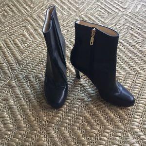 Ivanka Trump Darby Black Leather Bootie- size 8